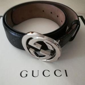 Gucci Interlocking G Guccissima Belt